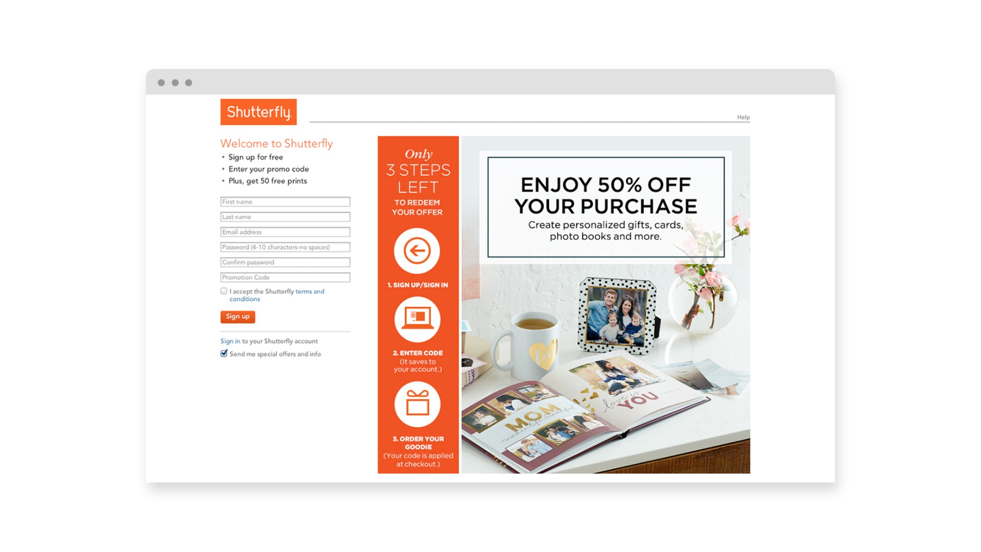 Shutterfly Enjoy $50 Off Your Purchase - Brand Advertising Agency - Citizen Best